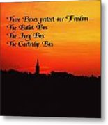 The Three Boxes Metal Print