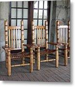 The Three Chairs Metal Print