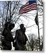 The Three Soldiers - Vietnam War Memorial Metal Print