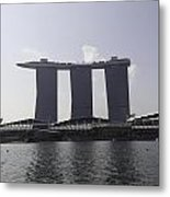The Three Towers Of The Marina Bay Sands In Singapore Metal Print