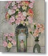 The Three Vases Metal Print by Good Taste Art