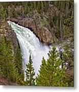 The Thundering Lower Yellowstone Falls Metal Print