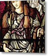 The Tibertine Sibyl In Stained Glass Metal Print