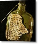The Torn Message Metal Print