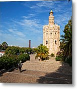 The Torre Del Oro, Gold Tower, Military Metal Print