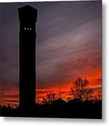 The Tower @ Dawn - Square Silhouette Metal Print