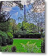 The Tower Over A Garden Metal Print