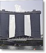 The Towers Of The Iconic Marina Bay Sands In Singapore Metal Print