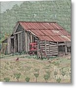 The Tractor Barn Metal Print by Calvert Koerber