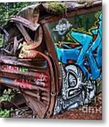 The Train And The Tree Metal Print