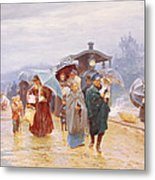 The Train Has Arrived, 1894 Metal Print