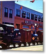 The Train In The Parade Metal Print