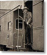 The Train Robber Metal Print