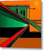 The Train Station  Number 9 Metal Print