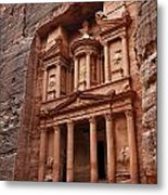 The Treasury In Petra Jordan Metal Print