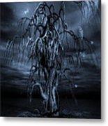 The Tree Of Sawols Cyanotype Metal Print