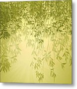 The Trees First Light Metal Print