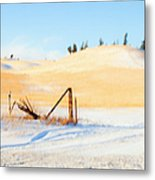 The Trees On The Hill Metal Print