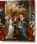 The Triptych Of Saint Ildefonso Altar Metal Print