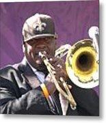 The Trombone Player Metal Print