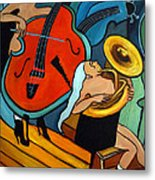 The Tuba Player Metal Print