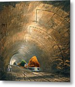 The Tunnel, From Coloured View Metal Print