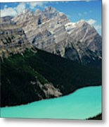 The Turquoise Colored Peyto Lake Metal Print