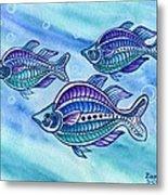 The Turquoise Rainbow Fish Metal Print
