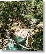 The Turquoise Waters Of The Forest River No2 Metal Print