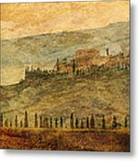 The Tuscan Landscape Near Pienza Metal Print