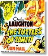 The Tuttles Of Tahiti, Us Poster, Top Metal Print
