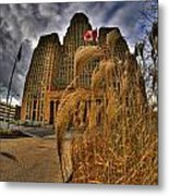 The Twisting Winds Of The Square Metal Print
