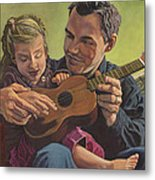 The Ukelele Lesson Metal Print by Paige Wallis