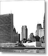 The Un And Chrysler Buildings Metal Print