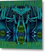 The Under Water Temple Metal Print