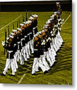 The United States Marine Corps Silent Drill Platoon Metal Print