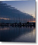 The Urge To Sail Away - Violet Sky Reflecting In Lake Ontario In Toronto Canada Metal Print