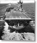 The U.s. Aircraft Carrier Uss Boxer Metal Print
