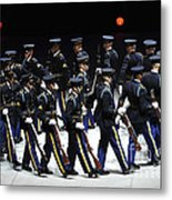 The U.s. Army Drill Team Performs Metal Print