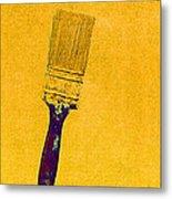 The Used Paintbrush Metal Print