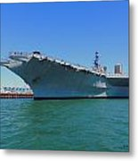 The Uss Midway Metal Print by Judy  Waller