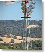 The Valley Windmill Metal Print