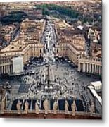 The Vatican St. Peter's Square Metal Print