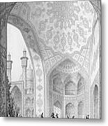 The Vestibule Of The Main Entrance Of The Medrese I Shah-hussein Metal Print