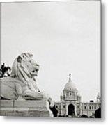 The Victoria Memorial In Calcutta Metal Print