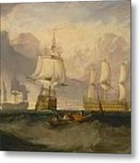 The Victory Returning From Trafalgar Metal Print