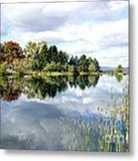 The View Across The Lake Metal Print