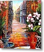The View From A Courtyard Metal Print