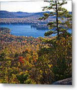 The View From Bald Mountain - Old Forge New York Metal Print