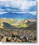 Keswick And Derwent Water From Crag Hill Metal Print